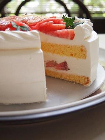 Gateau aux Peches/桃のショートケーキ